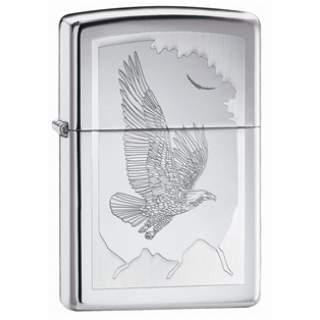 Birds Of Prey - High Polish Chrome Zippo Lighter