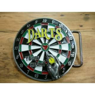 Dart Players Full Colour 3D Belt Buckle