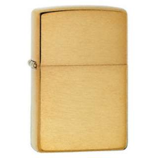 Solid Brass with Brushed Finish Zippo Lighter