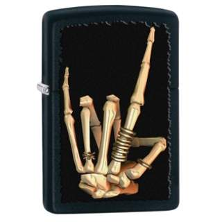 Skeleton Hand Zippo Lighter