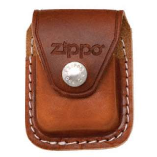 Zippo Pouch Brown Leather with Belt Clip