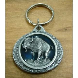 Native American Buffalo Bull Key Ring