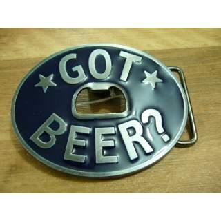 GOT BEER Bottle Opener Belt Buckle Blue Finish
