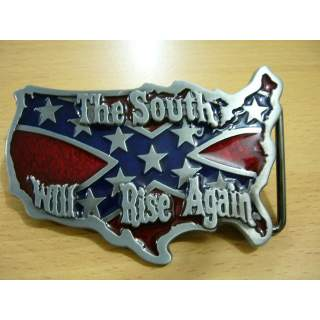 """Rebel Pride """"The South Will Rise Again"""" Belt Buckle."""