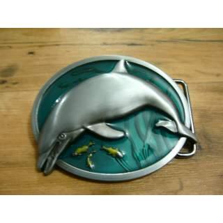 Dolphin 3D Full Colour Belt Buckle.