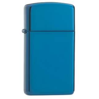 Slim Line Sapphire Colour Finish Zippo Lighter
