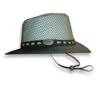 Distressed Leather / Mesh Hat
