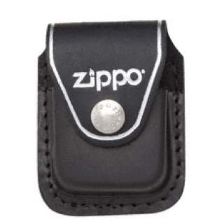 Zippo Pouch Black Leather with Belt Clip
