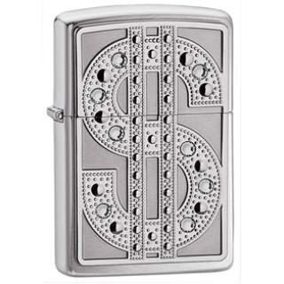 Bling Money Emblem On Zippo Lighter