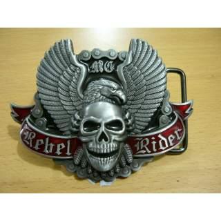 "Classic Bike ""Rebel Rider Skull &  Eagle"" Belt Buckle"