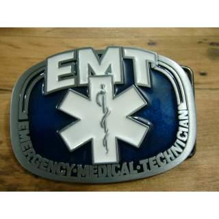 E M T Emergency Medical Technician 3D Belt Buckle EMT