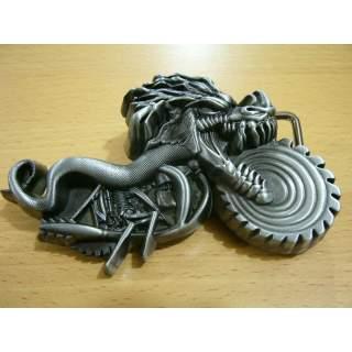 Dragon Rider Motorcycle Theme Belt Buckle.