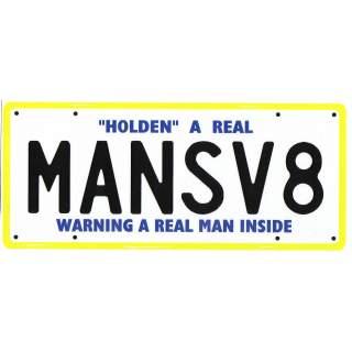 MANSV8   Personalised Plate