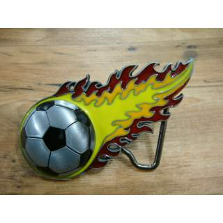 """Soccor Ball Belt Buckle. """"Are You This Fast?"""""""