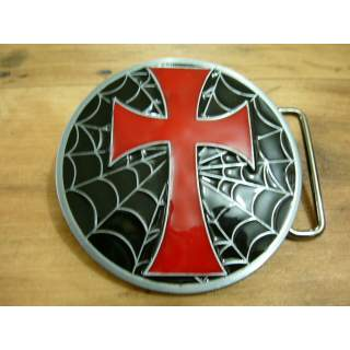 Celtic Spider Web Cross Belt Buckle