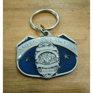 """US Law Man """"To Protect And Serve"""" Key Ring"""