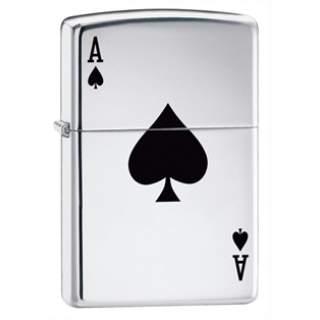 Chrome Ace Of Spades Zippo Lighter