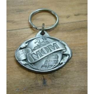 "American ""Mom"" Pewter Key Ring"