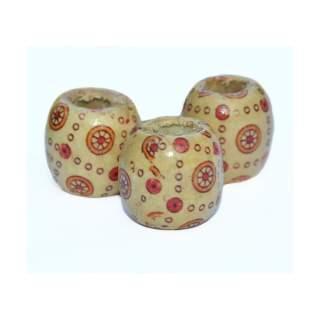 Wooden Beads x 3 - Wheel