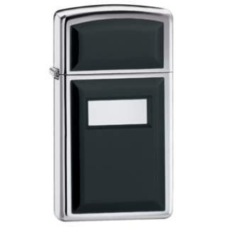 Slim Line Black Ultralite with Engraving Panel Zippo