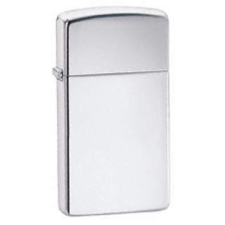 High Polish Chrome Slim Line Zippo Lighter
