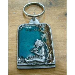 Fantasy Winged Fairy In A Grove Key Ring
