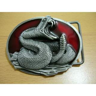 Coiled Rattle Snake Belt Buckle.USA