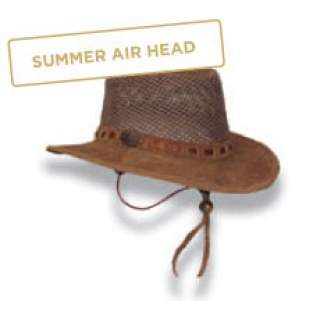 Suede and Mesh Cowboy Hat