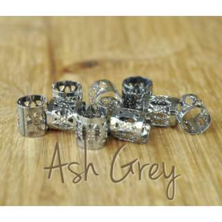 Dreadlock Cuffs x 5 Ash Grey