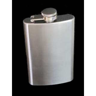 SATIN FINISH STAINLESS STEEL LONG STYLE 50Z HIPFLASK