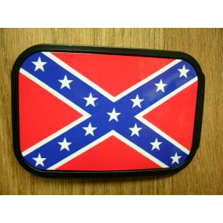 CONFEDERATE FLAG AMERICAN MADE PICTURE BELT BUCKLE