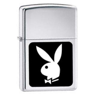 Playboy Zippo Lighter.Silver and Black