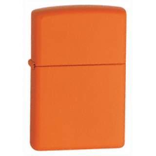 Orange Matt Finish Zippo Lighter.