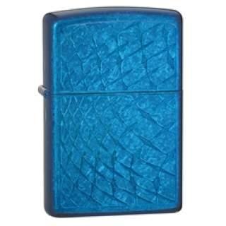 Blue Iced Snakeskin Zippo Lighter