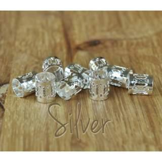 Dreadlock Cuffs x 5 silver