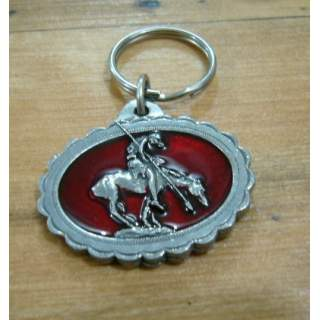 Native American End Of The Hunt Colour Key Ring