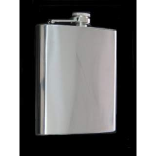 HIGH POLISHED FINISH STAINLESS STEEL SQUARE STYLE 70Z HIPFLASK.