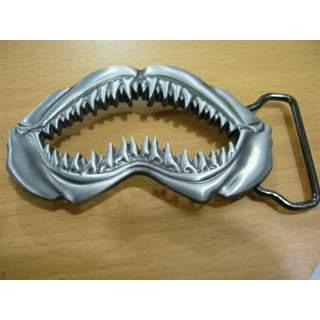 Shark Jaw With Teeth Fishing Belt Buckle