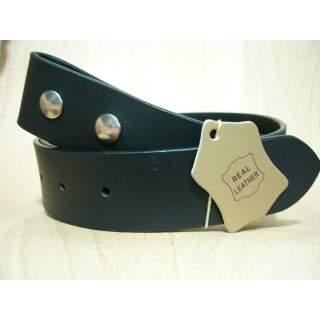 """35mm NZ Made Black Leather Belt 48-52"""" = 122-132cm Waist"""
