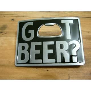 """Got Beer"" Bottle Opener Buckle Square"