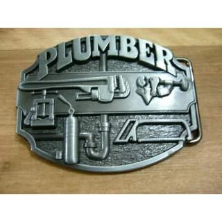 Plumber Trade Belt Buckle.