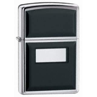 Ultralite® Black with Engraving Panel Zippo Lighter