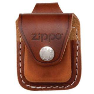 Zippo Pouch Brown Leather with Belt Loop