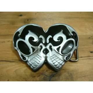 Double Skull Celtic Tattoo Belt Buckle*On Sale*