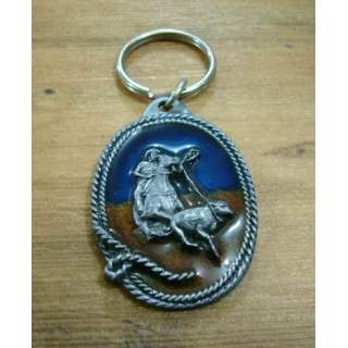 Calf Roping Rodeo Key Ring.Full Colour