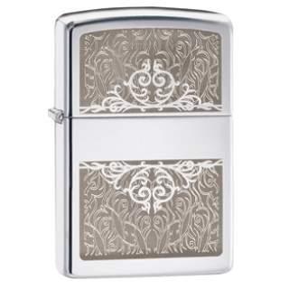 Filigree Initial Zippo Lighter