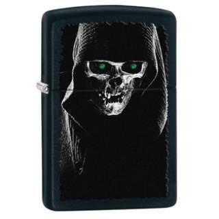 Hooded Skull Zippo Lighter