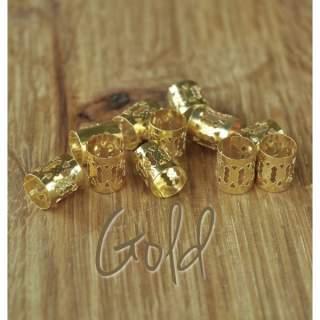 Dreadlock Cuffs x 5 Gold
