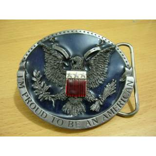 I'm Proud To Be An American Belt Buckle.Made In The USA
