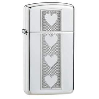 Four Hearts Zippo Lighter